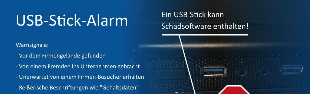 Poster IT-Sicherheit USB-Stick Vorschaz