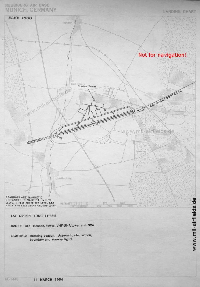 Neubiberg: Flugplatz-Karte, März 1951