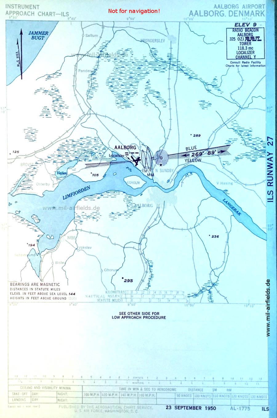 dänemark flughafen karte AalbFlughafen   Historische Anflugkarten   Military Airfield