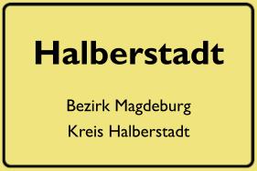 Ortsschild Halberstadt, DDR