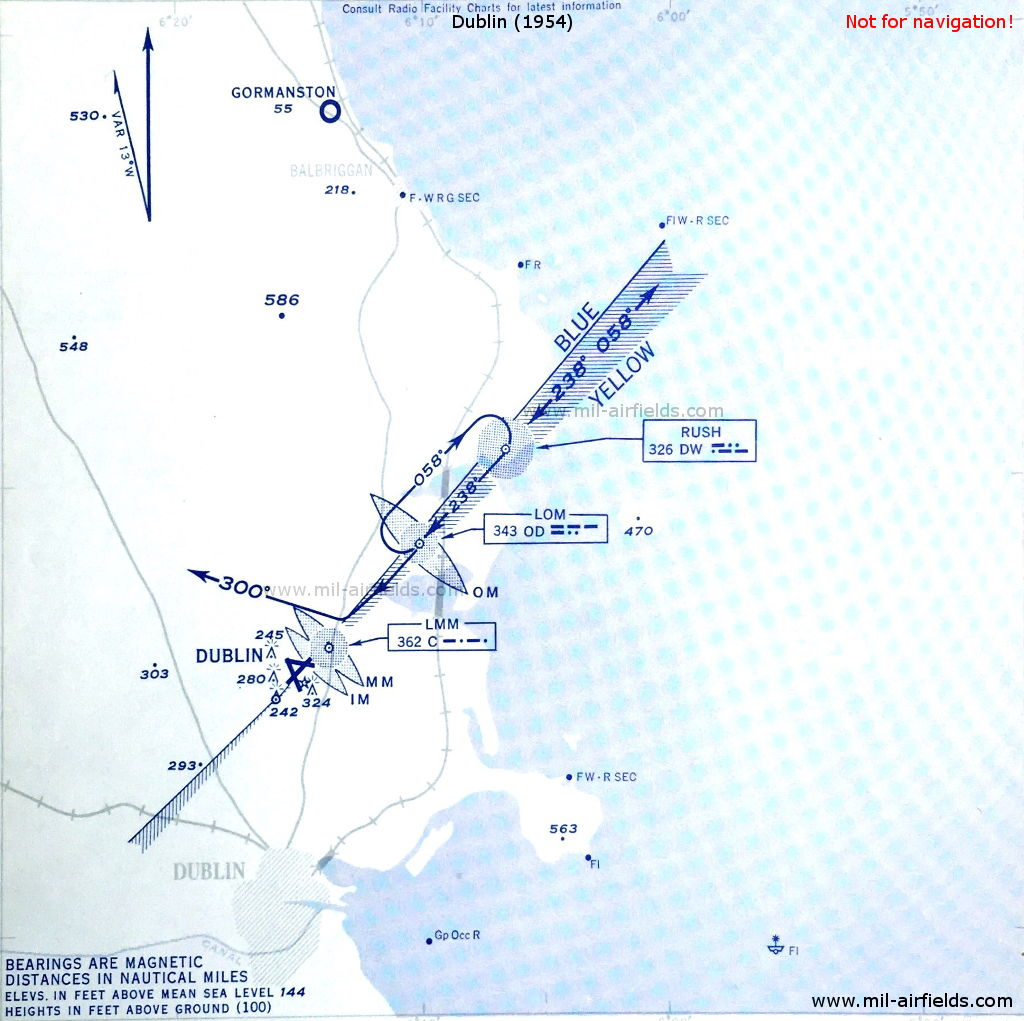 ILS-Anflug auf den Flughafen Dublin 1954